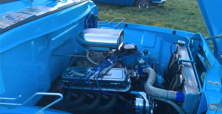 classic car engine bay