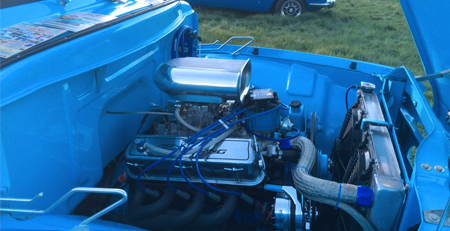 classic car engine bay